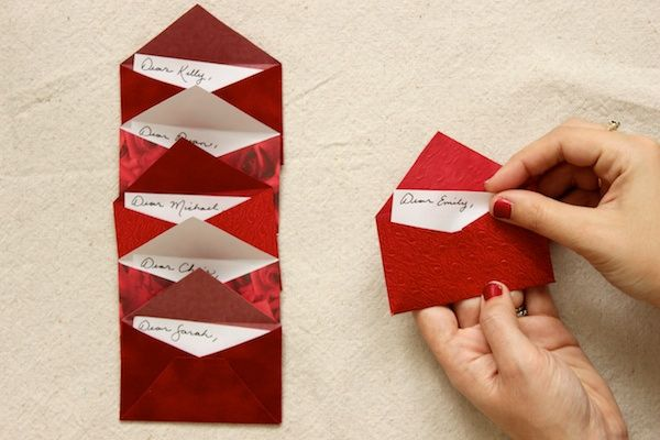 Diy Tutorial Love Letter Dinner Party Placecards  Stationery Design