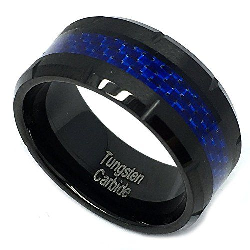 10mm Tungsten Carbide Wedding Band Ring for Him or Her Bl... https://www.amazon.com/dp/B01G4FI9RA/ref=cm_sw_r_pi_dp_-vUDxbQYQ5ZRF