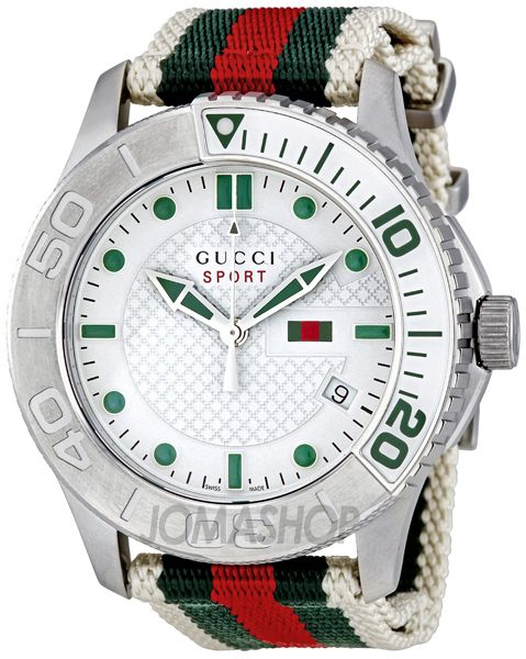 1016532b174 Gucci G Timeless Striped Nylon Strap Mens Watch YA126231  570 ...