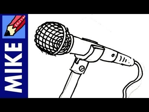 How To Draw A Microphone Real Easy Microphone Drawing Broken Drawings Drawings