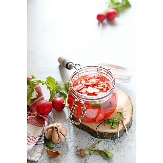 Easy Pickled Red Radishes...ready in next to no time and delightful to taste. Winter is the best season for these in North India as they are available by the cartload.  What else can I do with them?