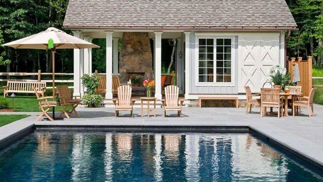 Photos de pool house, aménagement autour de la piscine Autour de