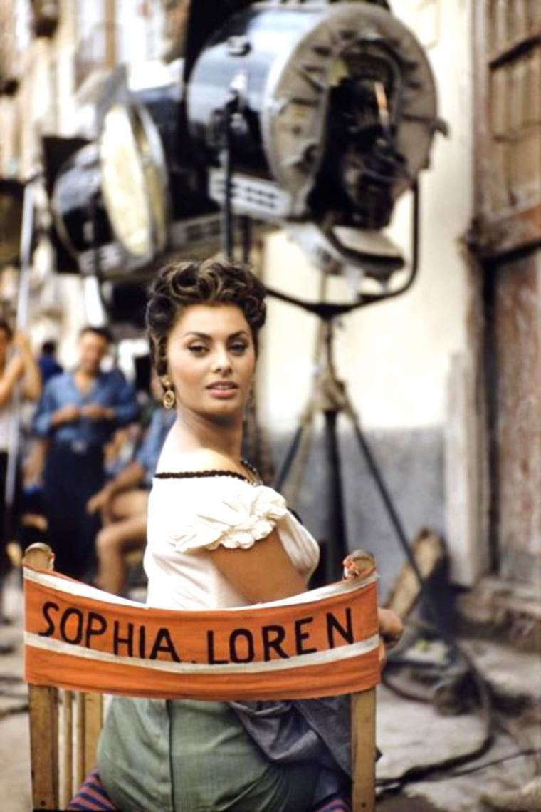 Image result for sophia loren on set