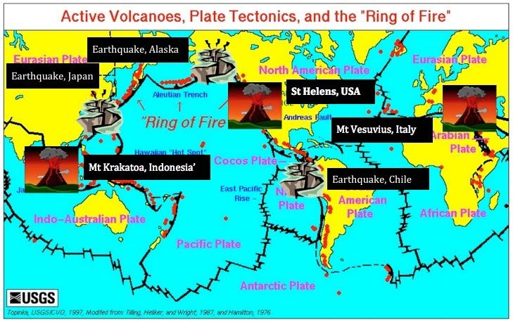 Resultado de imagem para World Map Of Volcanoes  Volcanoes