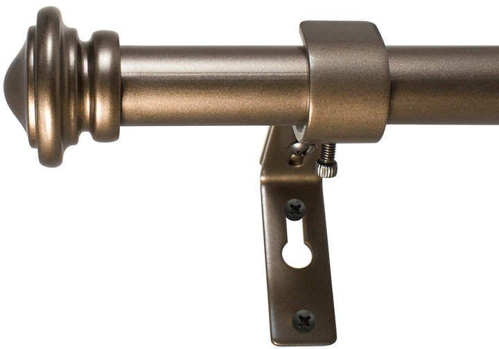 Decopolitan 3 4 Inch Cap Telescoping Curtain Rod Set 36 To 72