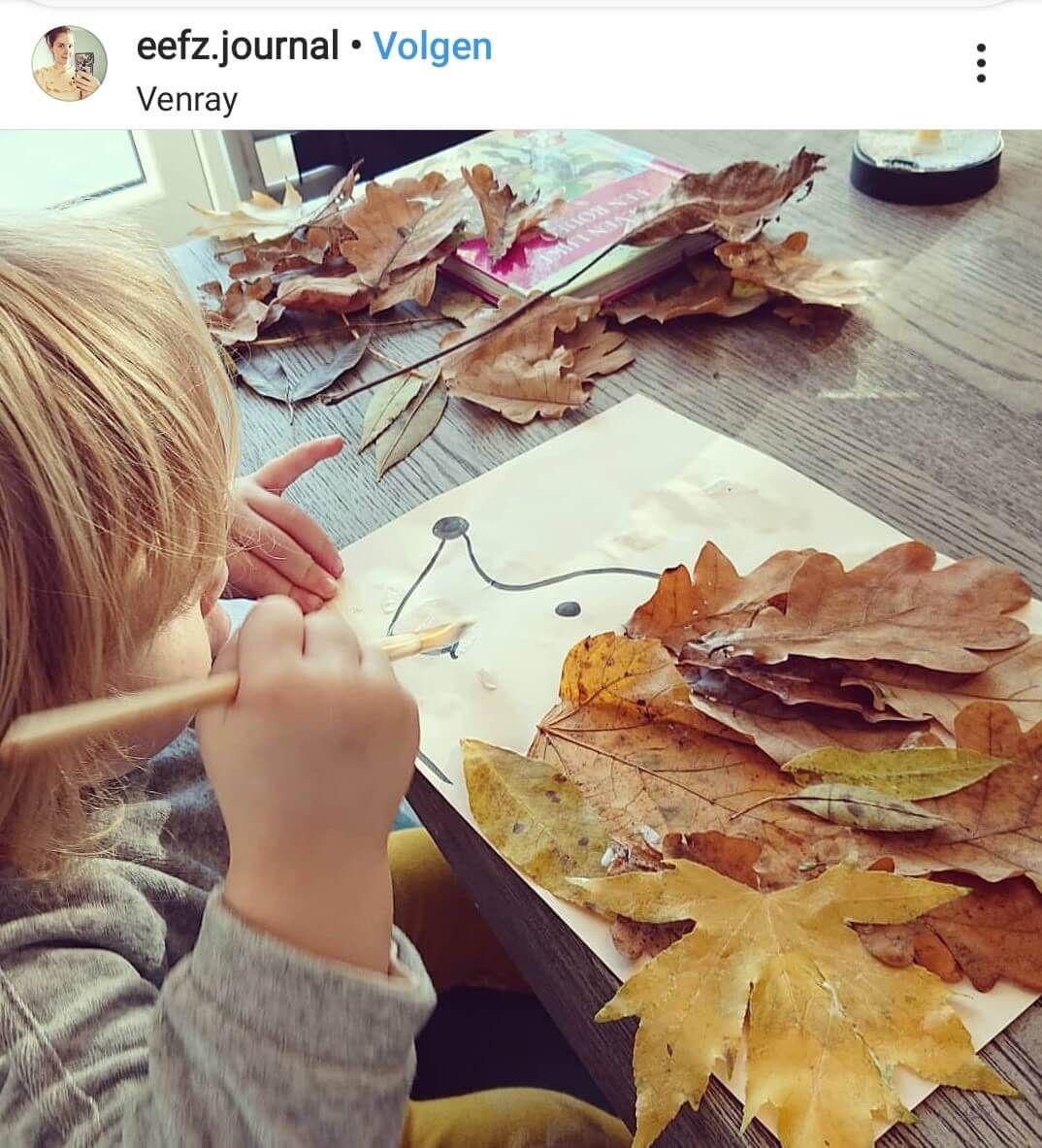 16 x knutselen met herfstmaterialen voor dreumes en peuter #herfstknutselen
