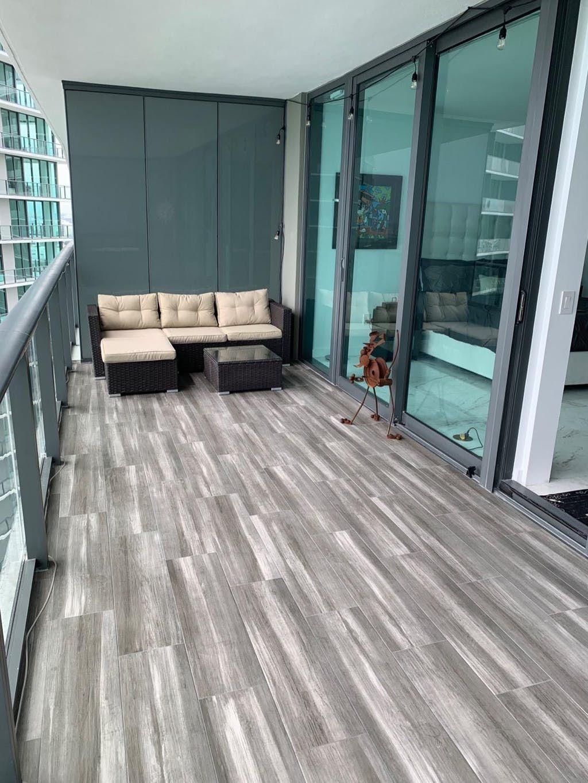 Phi Villa 3 Piece New Rattan Outdoor Sectional Sofa Set