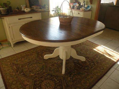 Idea for refinishing great grandmas oak table  Home