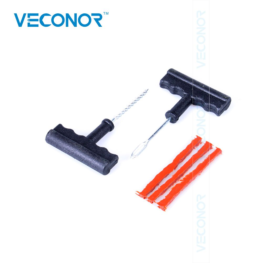 Veconor Motorcycle Car Tubeless Tire Puncture Repair Tool Kit Tire Plug Auto 3 Strips W O Glue Tubeless Tyre Tire Repair Tool Kit