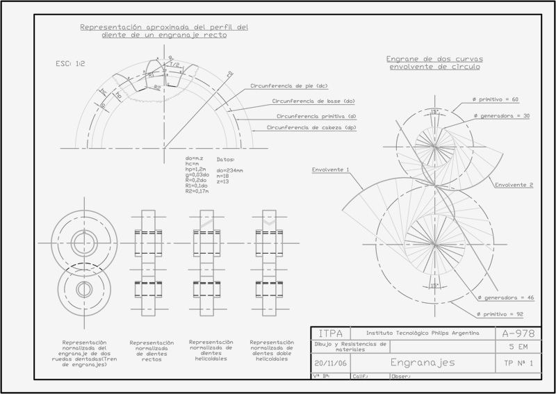 Untitled Document Tecnicas De Dibujo Autocad Engranajes