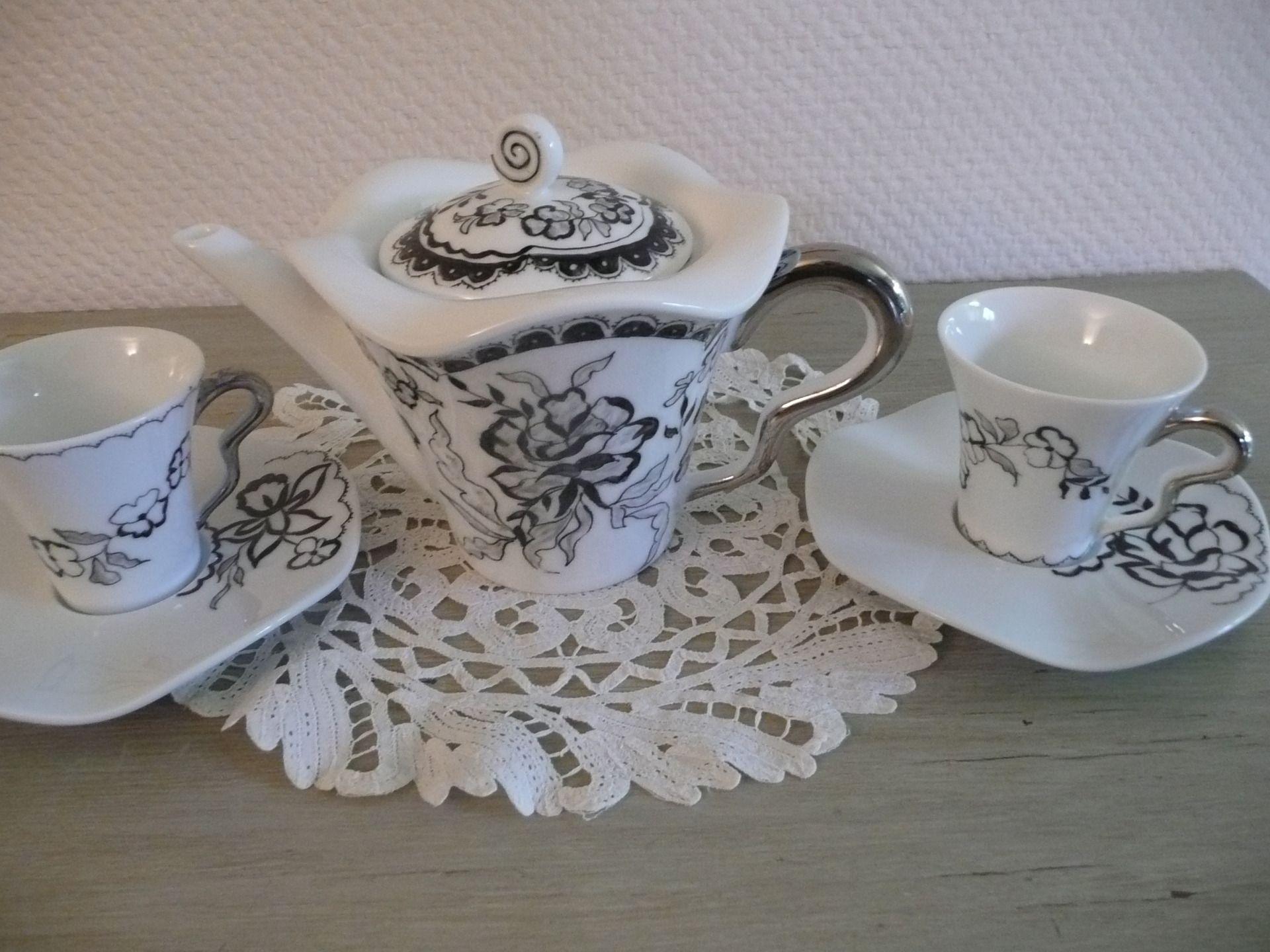 image associ e mugs et tasses pinterest porcelaine. Black Bedroom Furniture Sets. Home Design Ideas