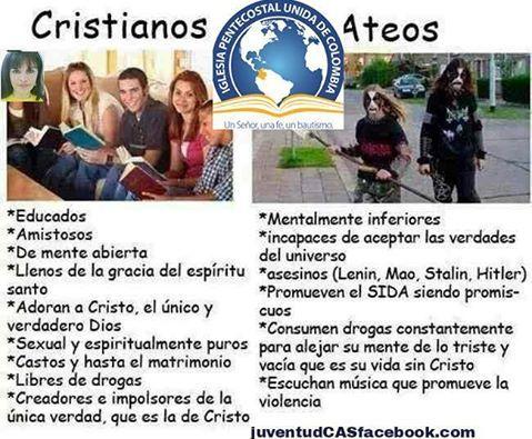 Cristianos Vs Ateos, Patetic@
