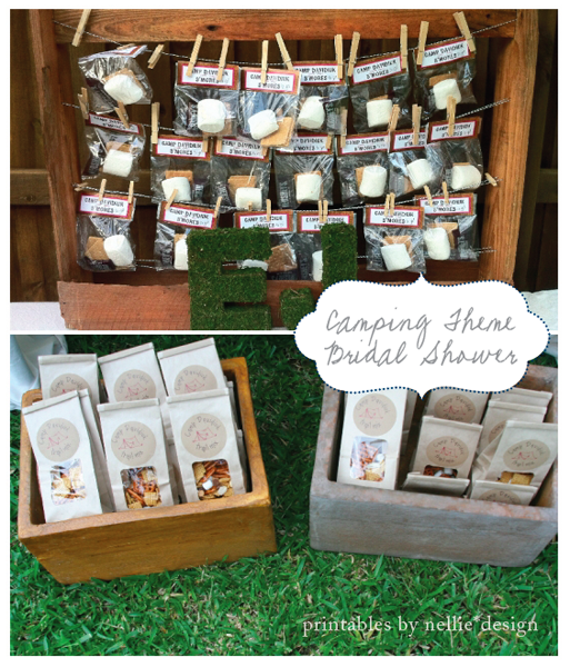 Camping Wedding Ideas: Camping Bridal Shower :: S'mores & Trail Mix Favors