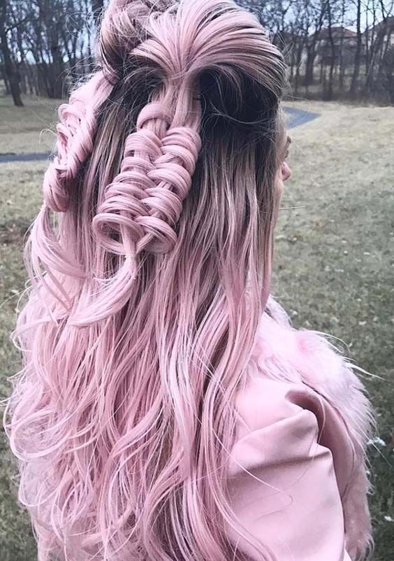 35 Best Pastel Pink Hair Color Trends Styles 2018 Pastel Pink Hair Color Hair Color Pink Pastel Pink Hair