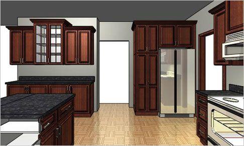 pantry beside fridge Free Online Custom Design for Kitchen