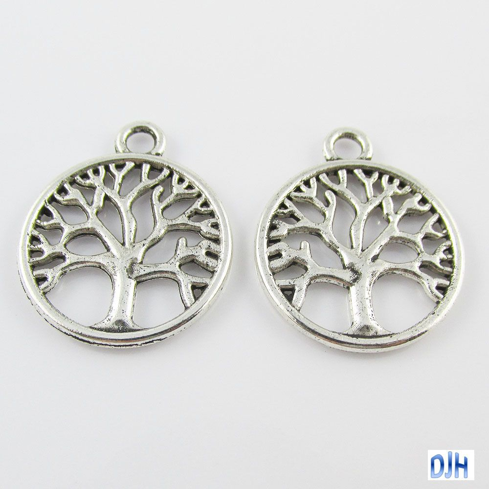 Bulk Tree Of Life Charm Pendant Antique Silver Finish