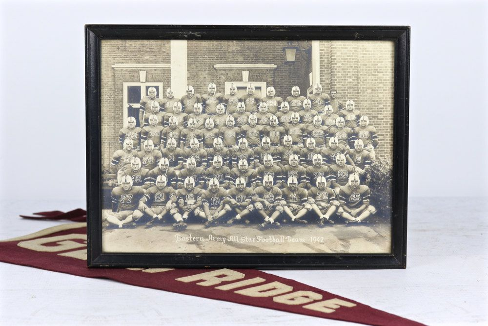 Vintage Football Photo 1942 Eastern Army All Star Team Decor