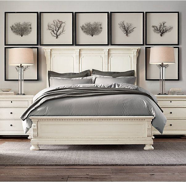 Rh S St James Panel Bed Evoking The Architectural Classicism Of Turn Of The Centur Restoration Hardware Bedroom Small Bedroom Remodel Unique Bedroom Furniture