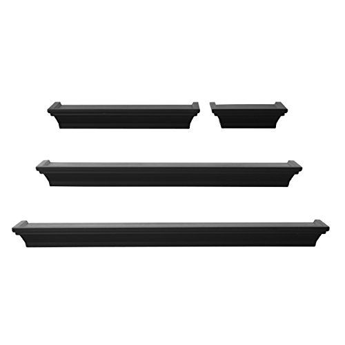 Melannco Floating Shelves Unique Melannco Wall Shelves Set Of 4 Black Melannco Httpswwwamazon Decorating Inspiration