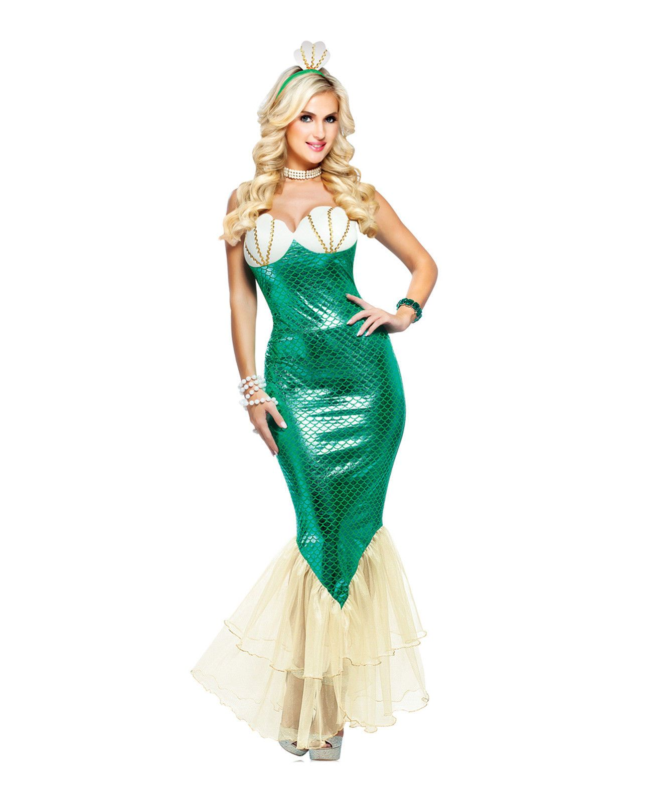 dazzling mermaid green little mermaid siren ariel adult women