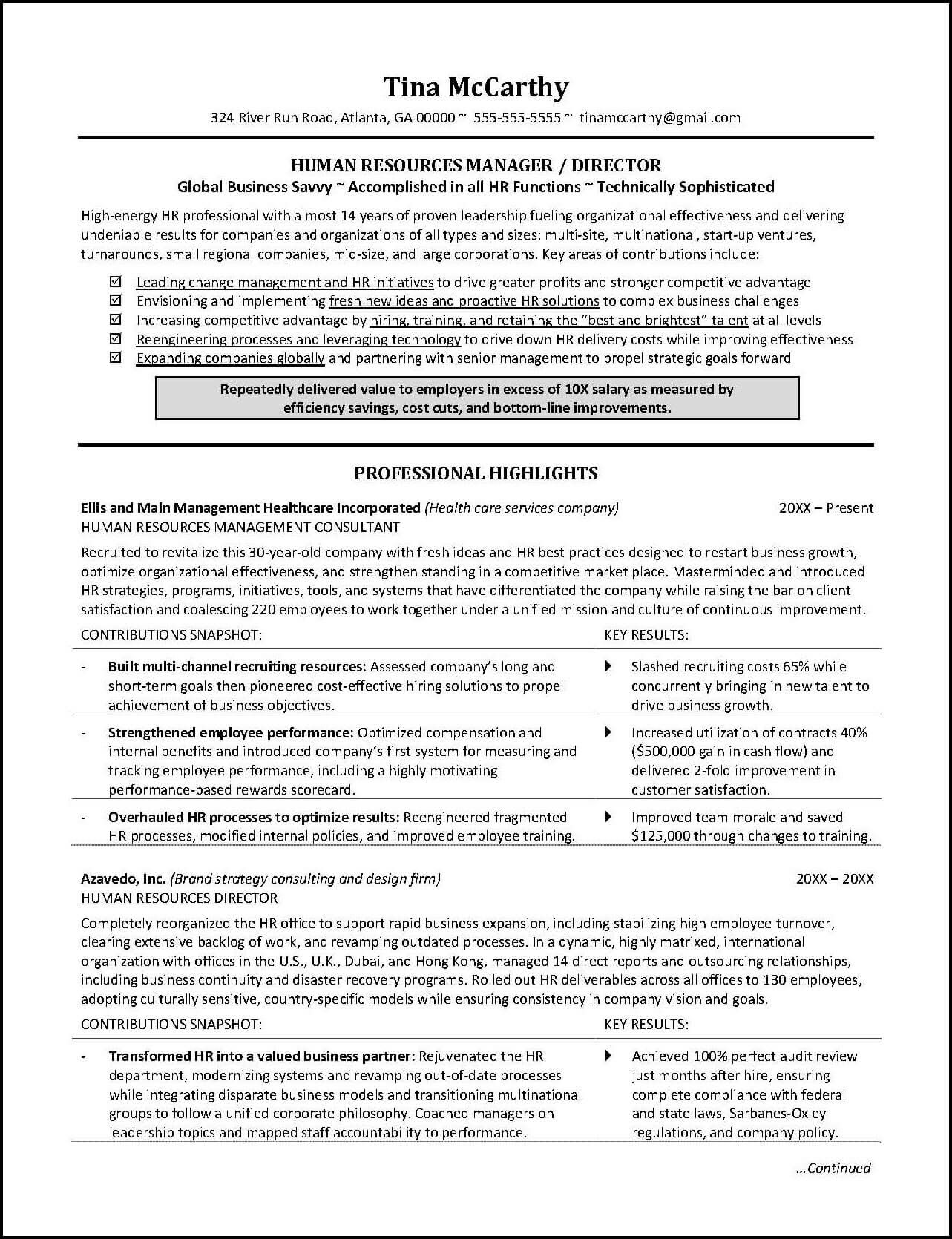this human resources resume illustrates the importance of including not just accomplishments in your resume - Sample Resume Of Healthcare Recruiter