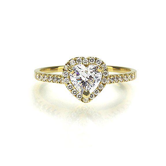 Kleine Schatze 14 Karat 585 Gelbgold Verlobungsring Ehering