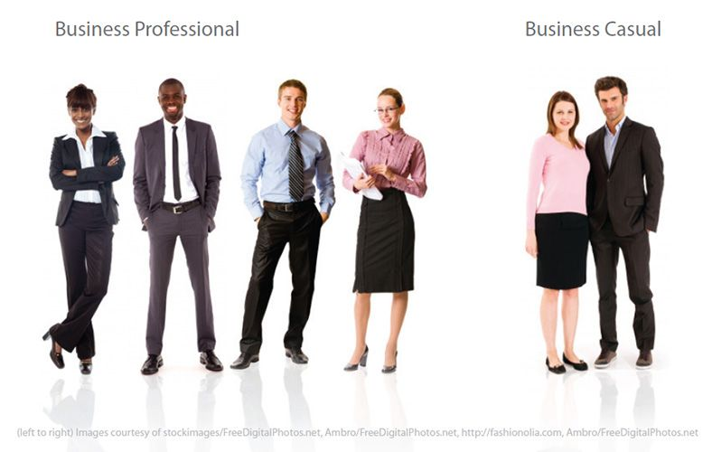 3eb34c0b398 Business professional vs business casual