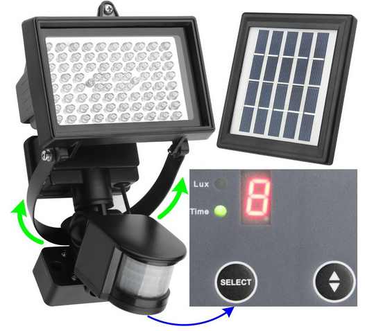 Microsolar Waterproof Digitally Adjustable Outdoor Solar Motion Sensor Light On Sale A Thrifty Mom Recipes Crafts Diy And More Solar Motion Lights Motion Sensor Lights Security Lights
