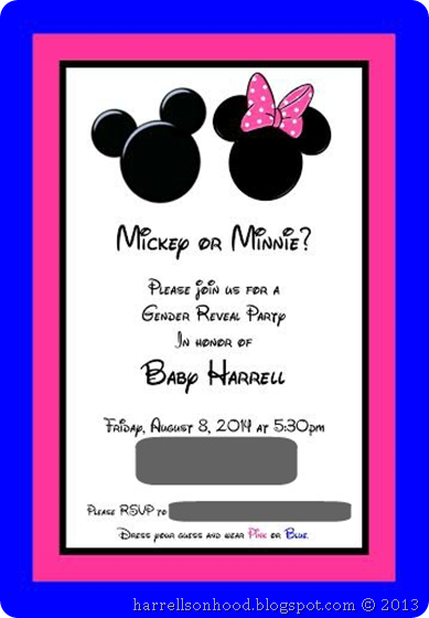 Mickey or minnie disney themed gender reveal party ideas gender mickey or minnie disney themed gender reveal party ideas gender reveal invitation template stopboris Images