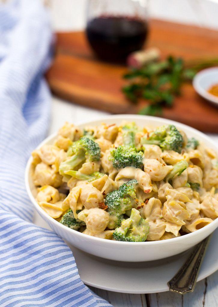 Cashew Alfredo Pasta with Broccoli-8832