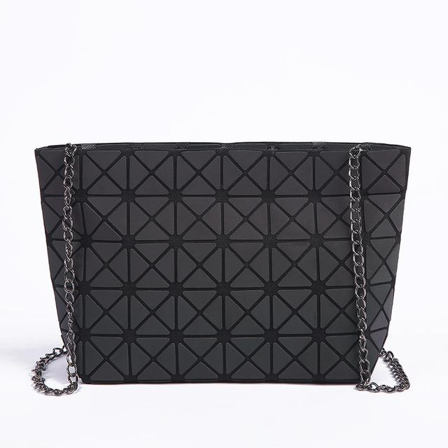 2d27478d0043 Luminous bag Women Geometry Diamond Tote Quilted Shoulder Bags Laser ...