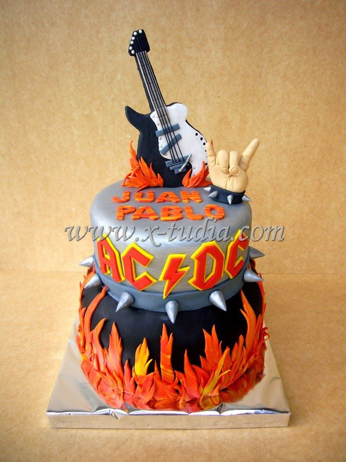 Cake AC DC 40th Birthday Cakes For Men 50th 5th