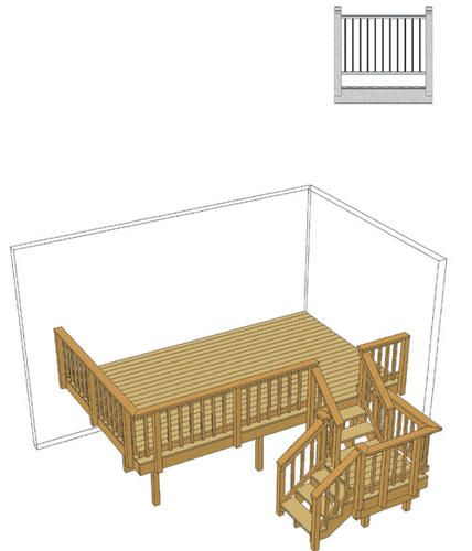 Best 16 X 10 Deck W Stair Landing And Iron Spindles At 400 x 300