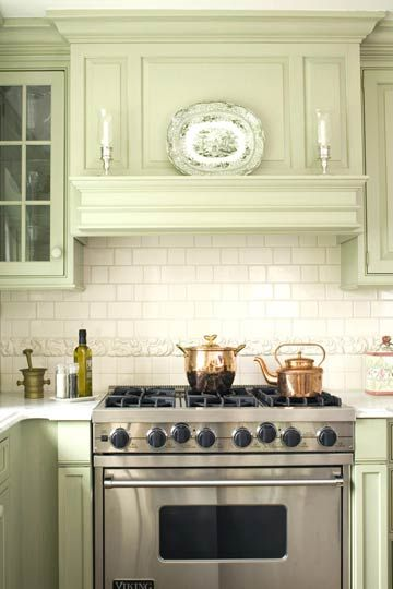 Mantel Style Range Hood Subway Tile And A Age The One Of Few Modern Looking Features In This Kitchen Vintage Vent