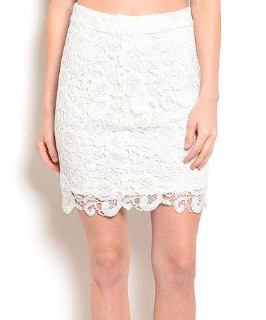 Look what I found on #zulily! White Crochet Skirt #zulilyfinds