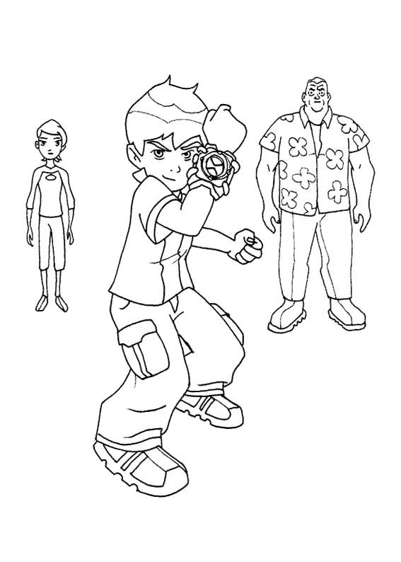 Ben Tennyson With Grandpa Max And Gwen Tennyson Coloring Page Cartoon Coloring Pages Family Coloring Pages Coloring Pages