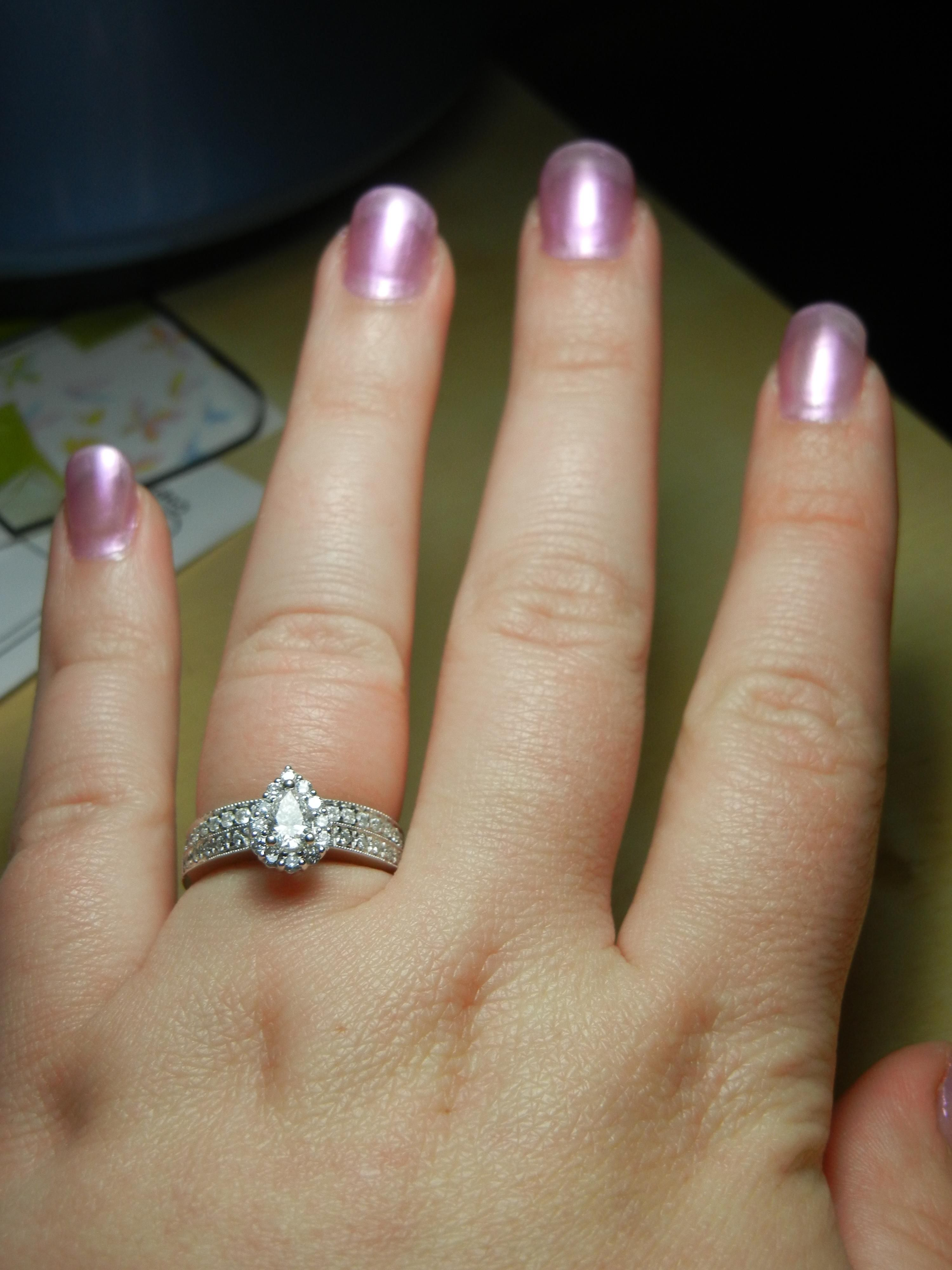 Pear Shaped Engagement Ring Zales 39