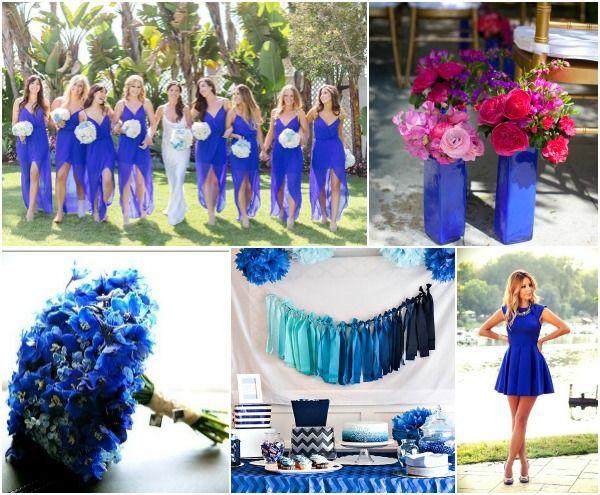 Cobalt Blue Wedding Party Theme Ideas Read More Www Mazelmoments