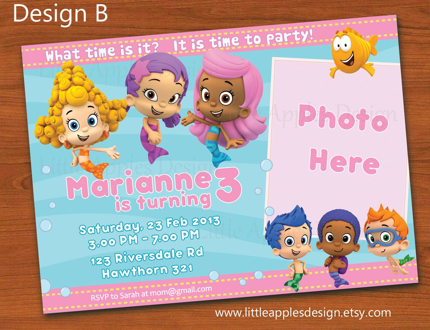17 Best images about 1st birthday invitations – Free Printable Bubble Guppies Birthday Invitations