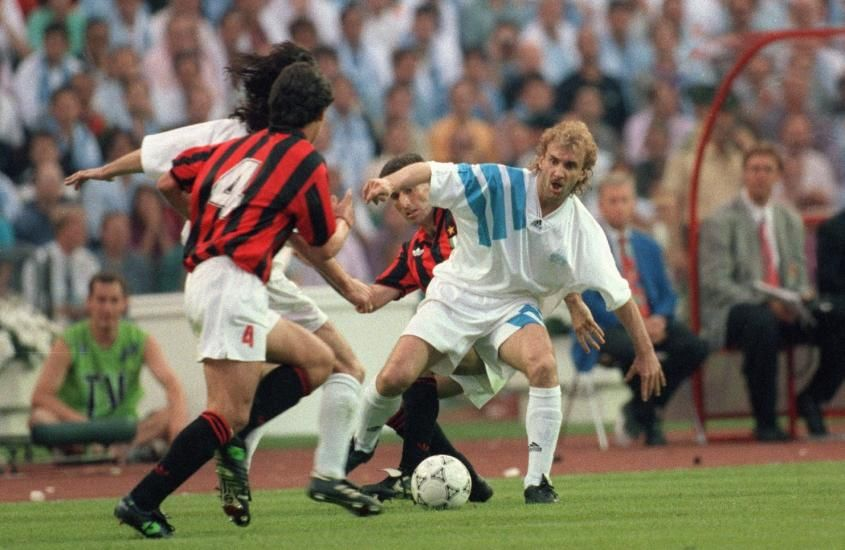Rudi Voller Olympique Marseille 1992 1994 73 Apps 28 Goals During The 1992 1993 Uefa Champions League Final