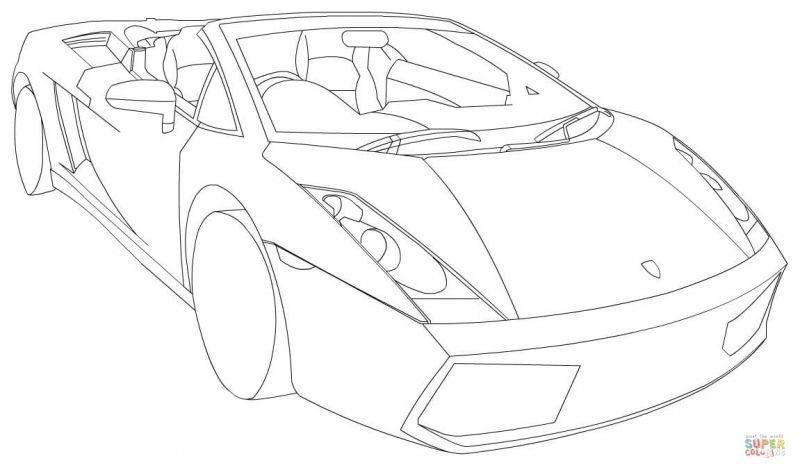 lamborghini gallardo spyder coloring pages | Transportation Coloring ...