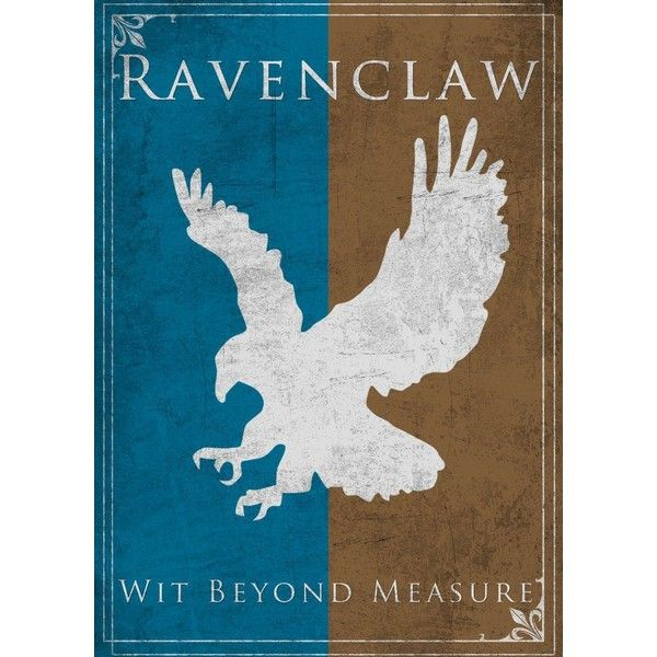 Game of Thrones Style Ravenclaw Banner by TheLadyAvatar ❤ liked on Polyvore featuring harry potter
