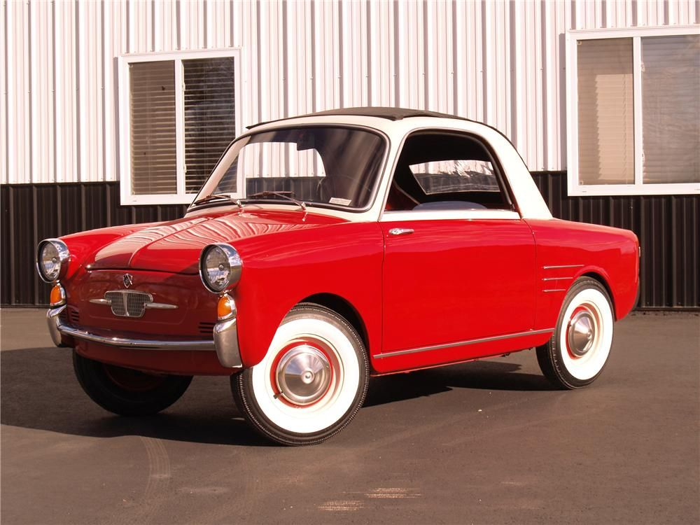 1959 Autobianchi Transformable 2 Door I Think I Saw Something Like This In Our Local West Texas Lake As A Kid Maybe A Ramb Tiny Cars Weird Cars Small Cars