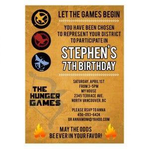 The hunger games movie inspired custom birthday invitation review the hunger games movie inspired custom birthday invitation review at kaboodle stopboris Images