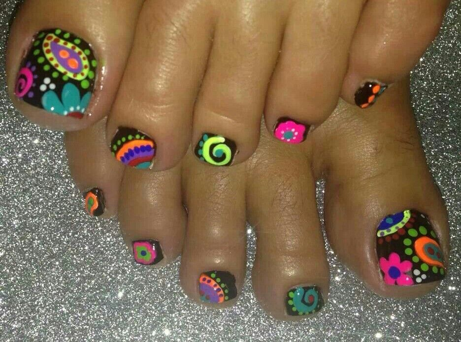 Funky toes | Acrylic Nails | Pinterest | Pedicures, Toe nail art and ...