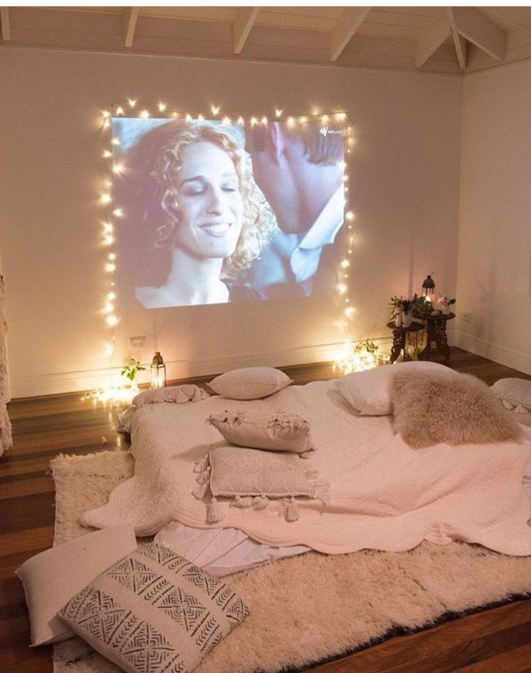 Projector And Fairy Lights To Create A Den Like Feel Housegoals