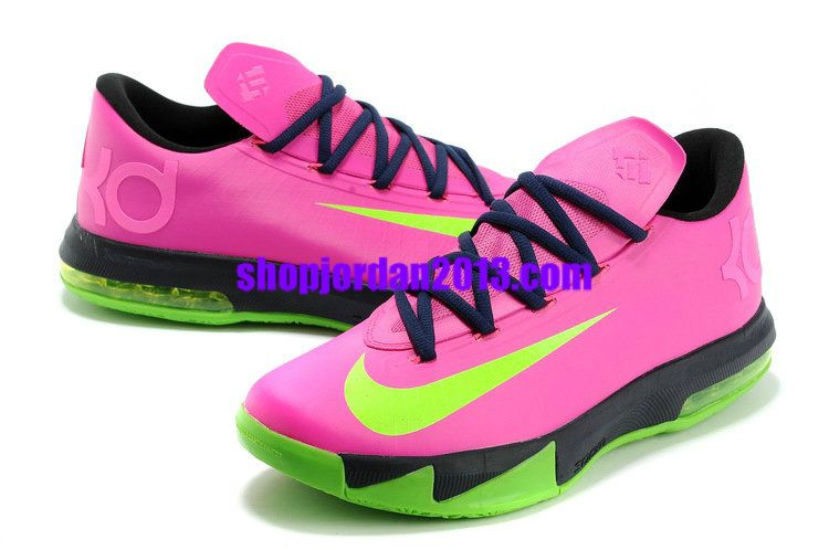 70329ef125d Nike Zoom KD 6(VI) Shoes N7 Pink Green Black Kevin Durant Shoes 2013  Pink   Womens  Sneakers