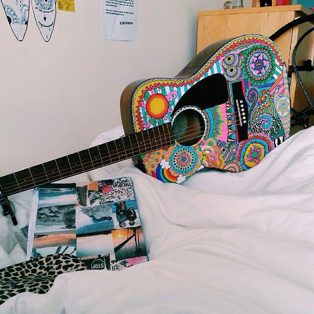 Peace, Love and guitar string