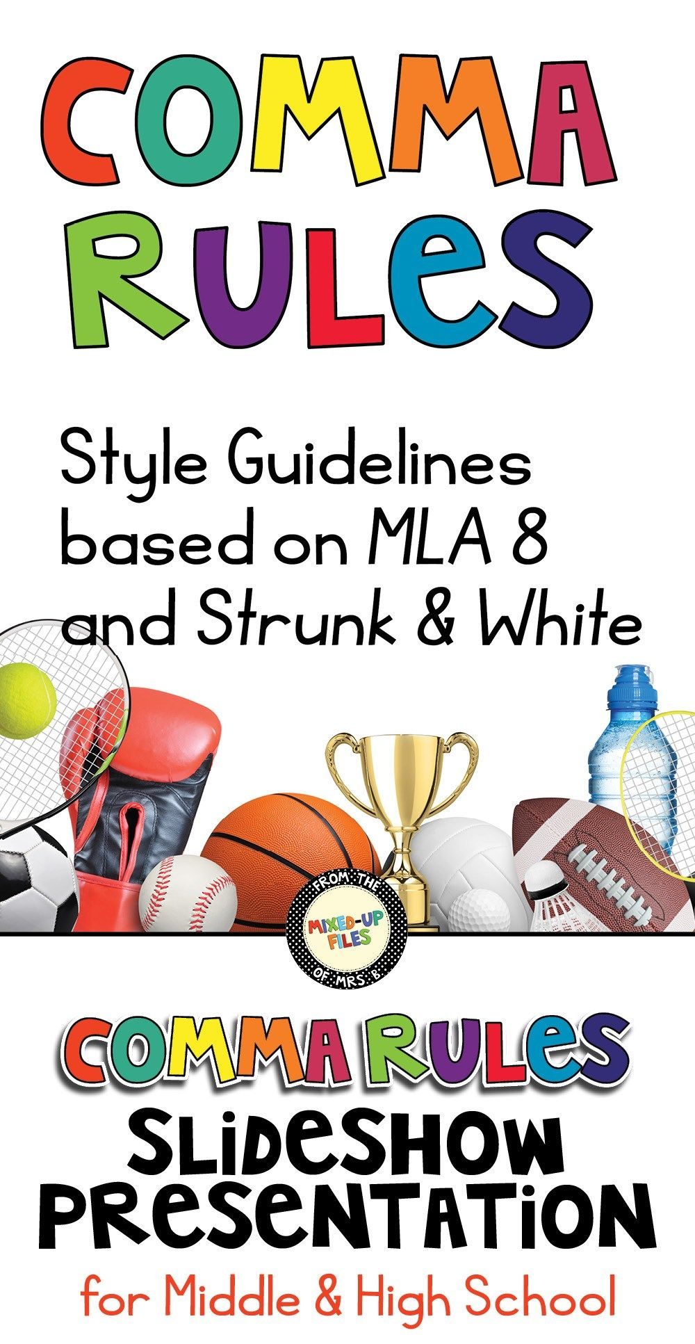 Comma Rules Presentation | Middle school writing, Teaching ...