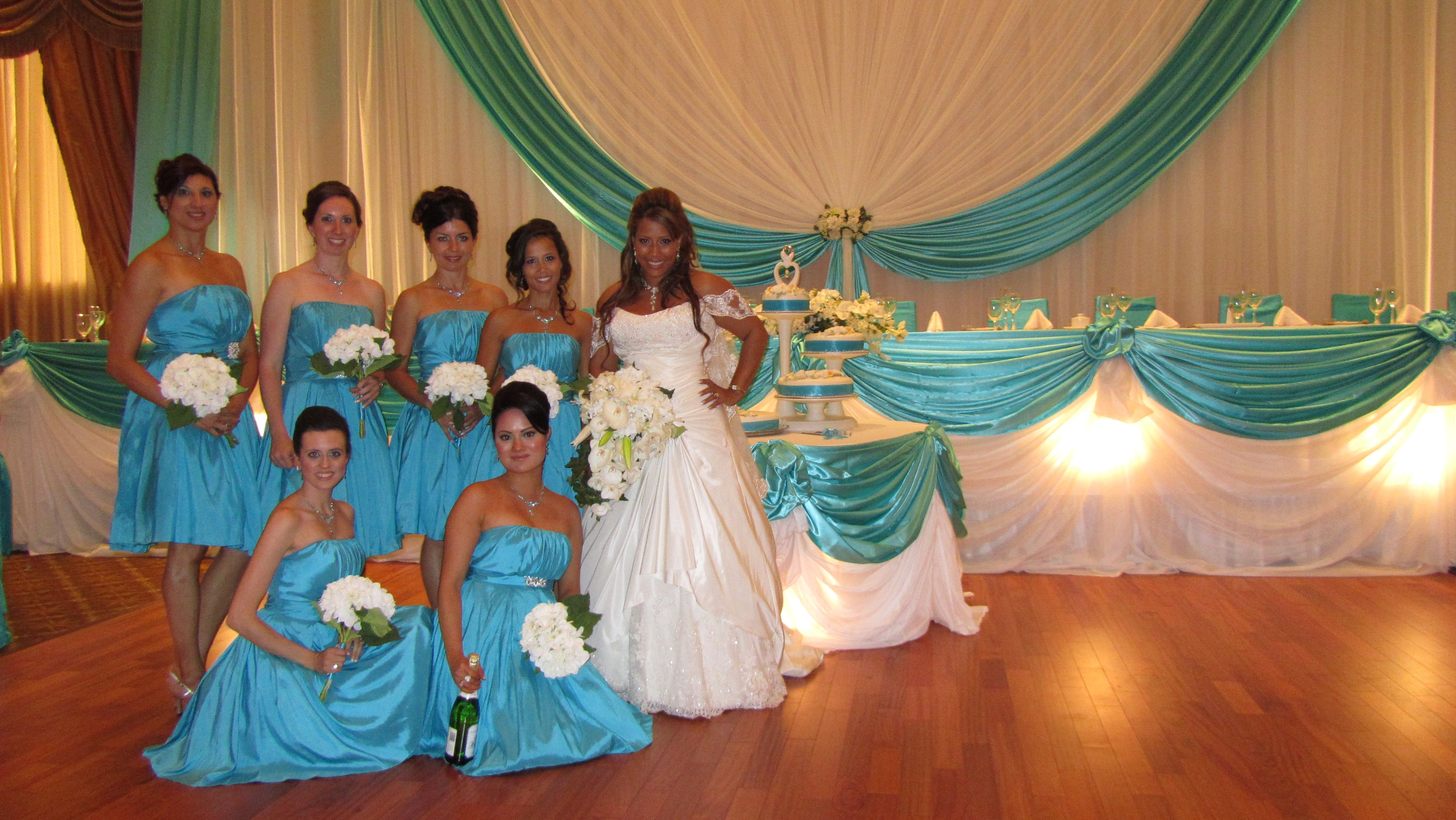 Beach party table decorations er thang  brianne wedding  pinterest  head tables backdrops and